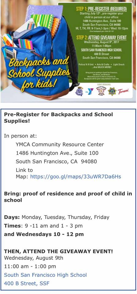Register for FREE Backpack, School Supplies – Everything