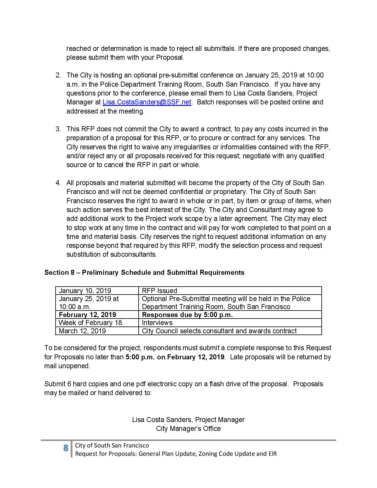 General Plan Update Request for Proposal, Add 2 Members